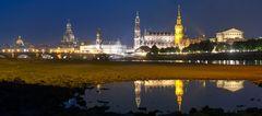 Dresden-Ansicht bei Niedrigwasser