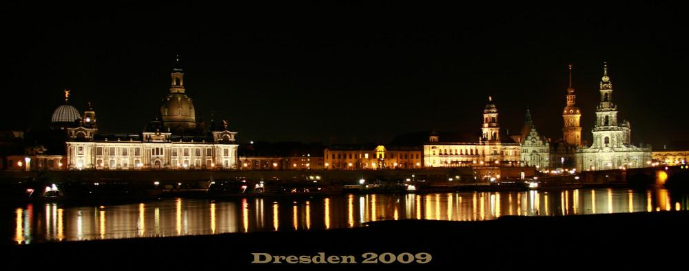 Dresden bei Nacht 2009
