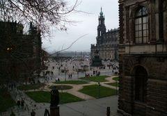 Dresden bei trübem Wetter