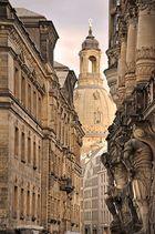Dresden - Blick in Richtung Frauenkirche