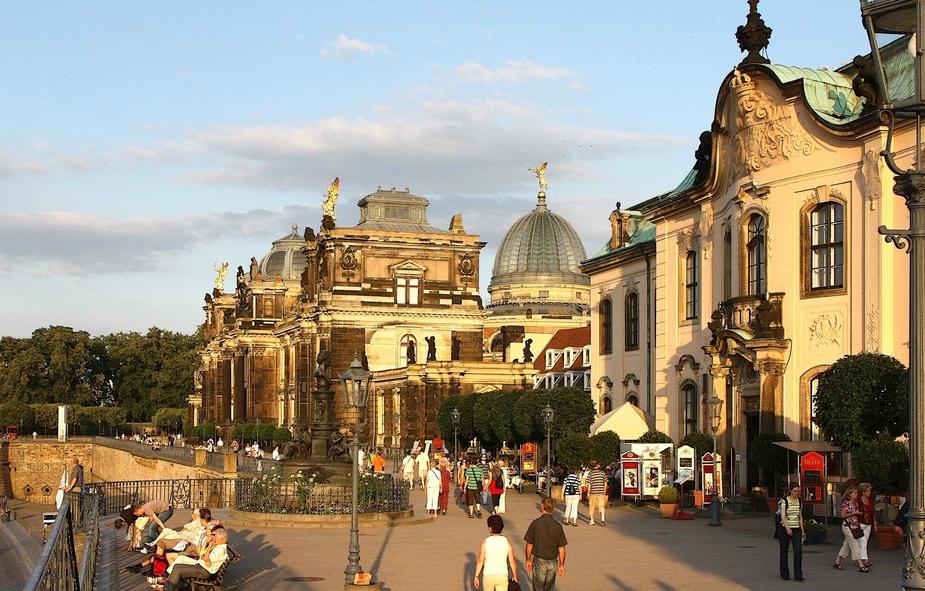Dresden Bruhlsche Terasse Foto Bild Deutschland Europe Sachsen