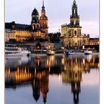 Dresden - Hofkirche und Brühlsche Terrasse