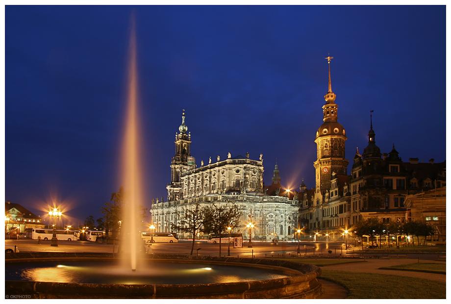 Dresden - Hofkirche und Residenzschloss