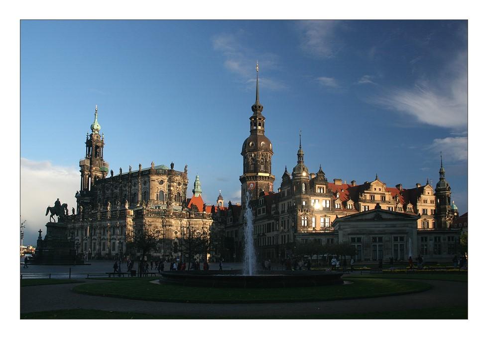 Dresden in der Abendsonne