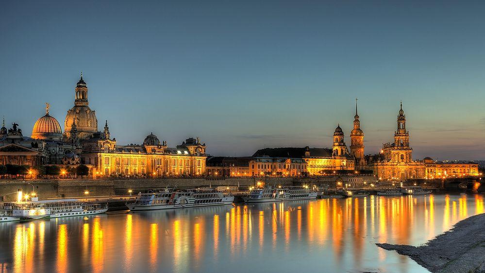 Dresden in der Dämmerung