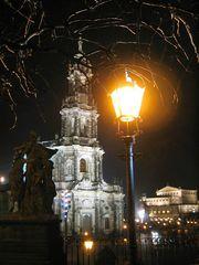 Dresden- Lichter, Hofkirche, Semperoper