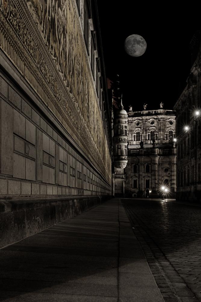 Dresden, romantische Augustusstraße
