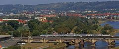 Dresdenblick auch von weit oben, aber nicht von einem Berg...