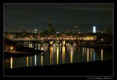 Dresdner Altstadt bei Nacht