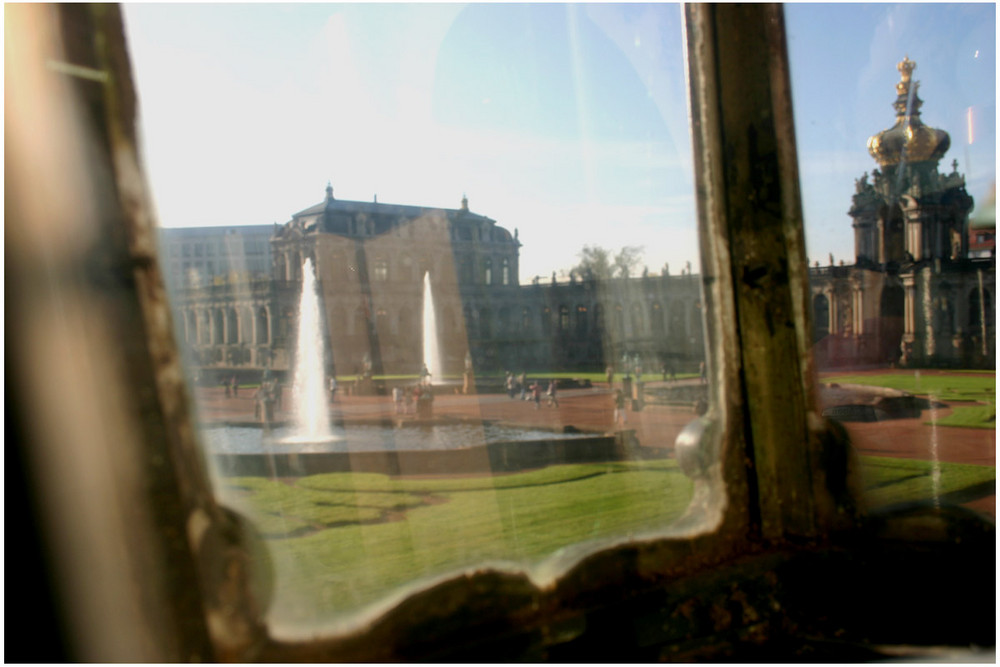 Dresdner Zwinger - Blick aus der Laterne
