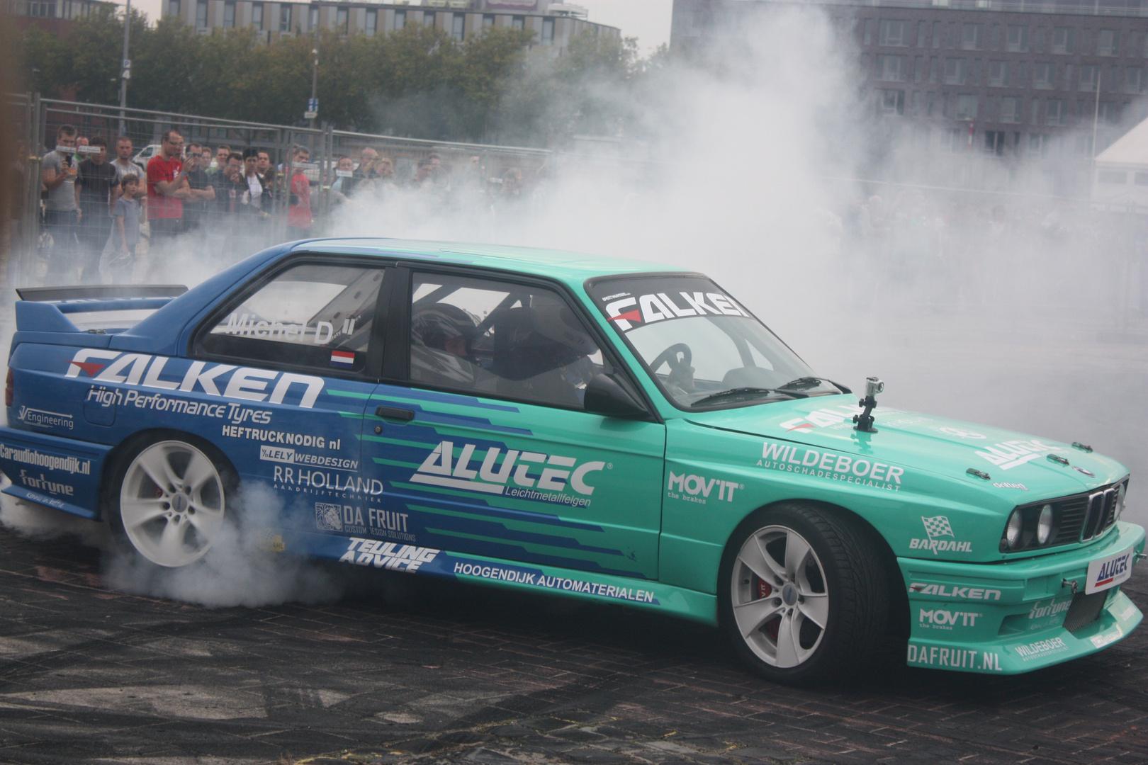 Drift-Show bei einer Car-messe
