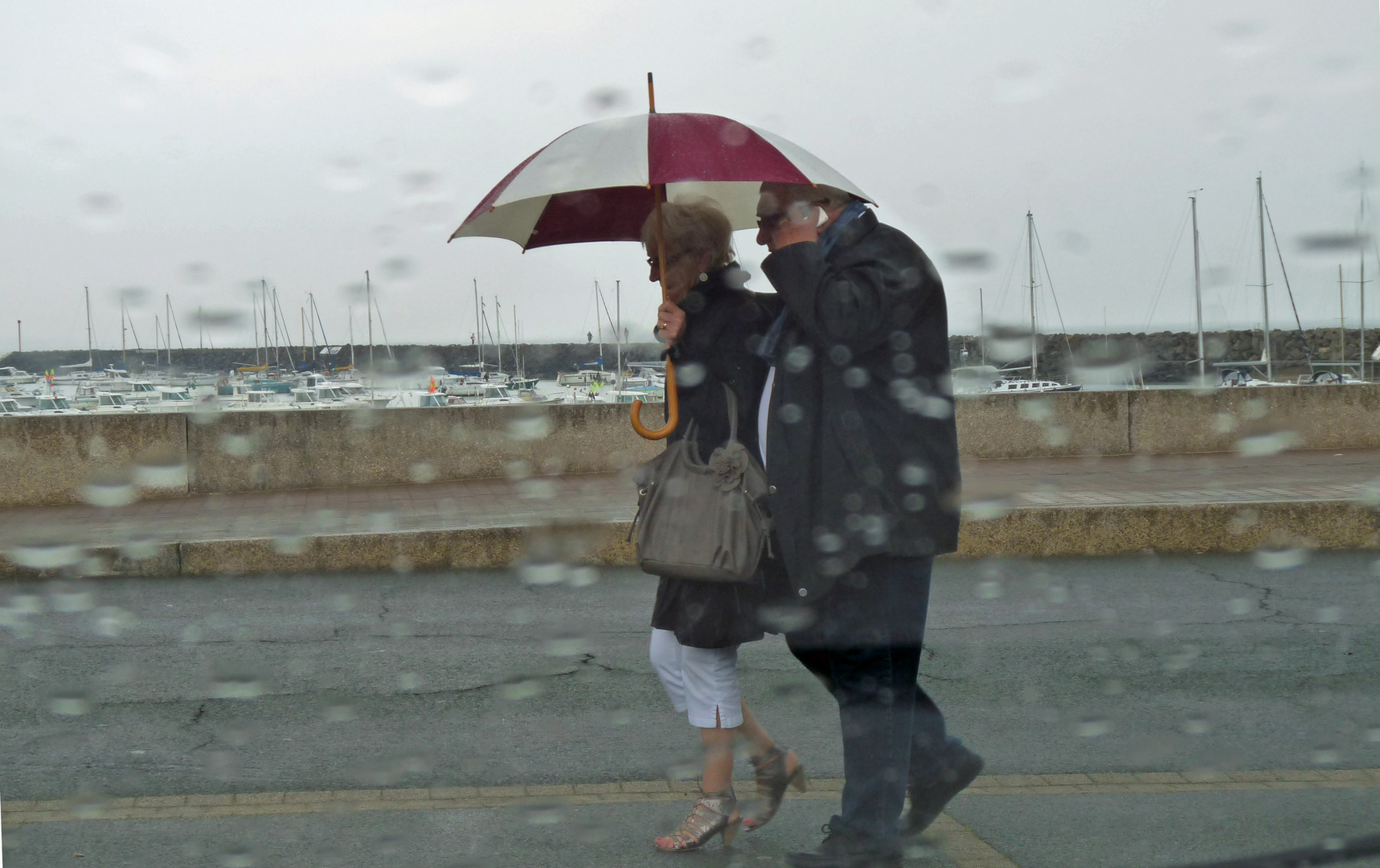 """Dring-dring"" in the rain."