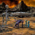 Dringt der Bary in Galaxien vor die noch nie ein Olax zuvor gesehen hat ...