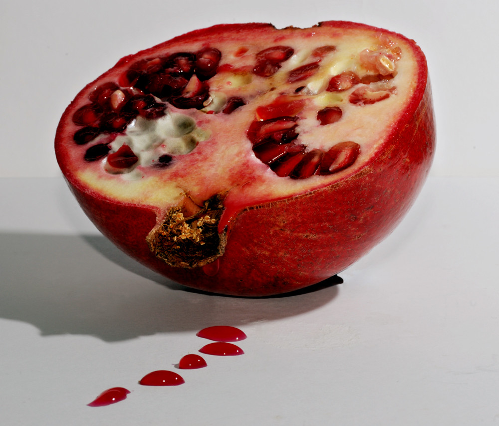 Dripping pomegranate