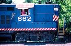 Driving the old FEC GP9 #662...