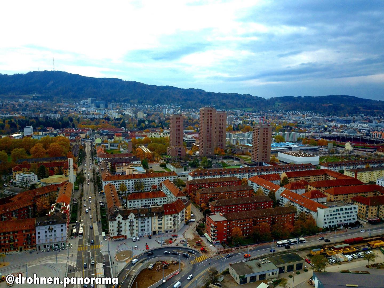 DrohnenPanorama — Flug über Zürich