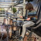 Drummer at work.
