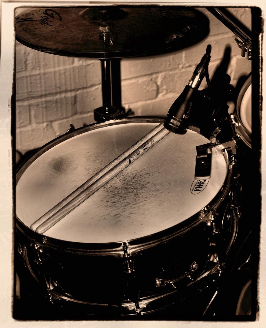 Drummer hat Pause