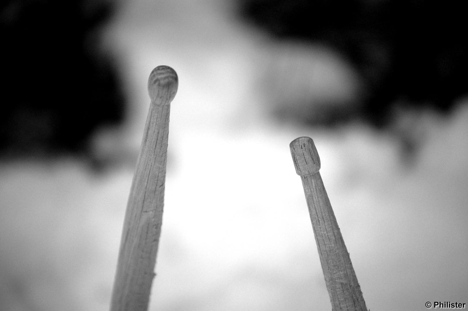 drumsticks black white