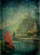 Dschunke auf dem Rhein