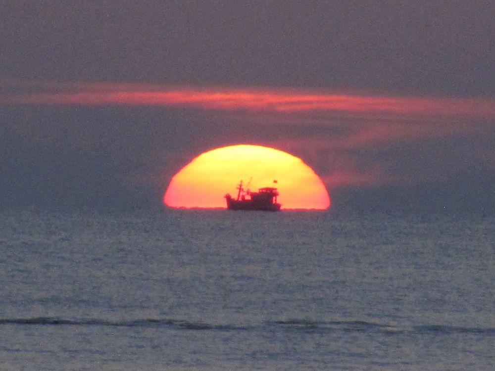 Dschunke im Golf von Thailand