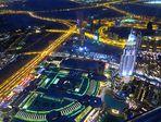 DUBAI - Downtown by night - from Burj Khalifa
