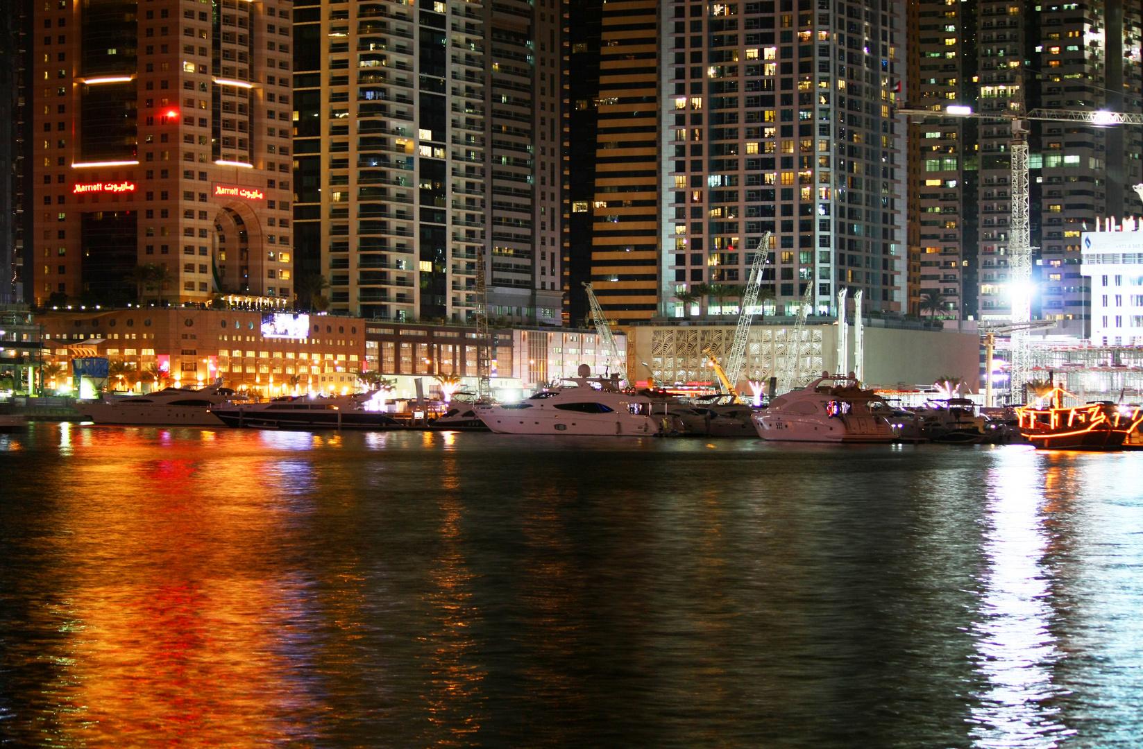Dubai Marina Night View