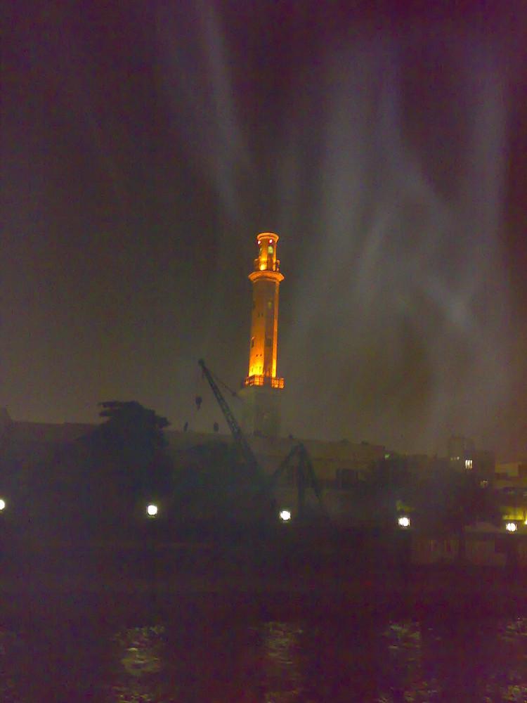 Dubai Moschee im Nebel