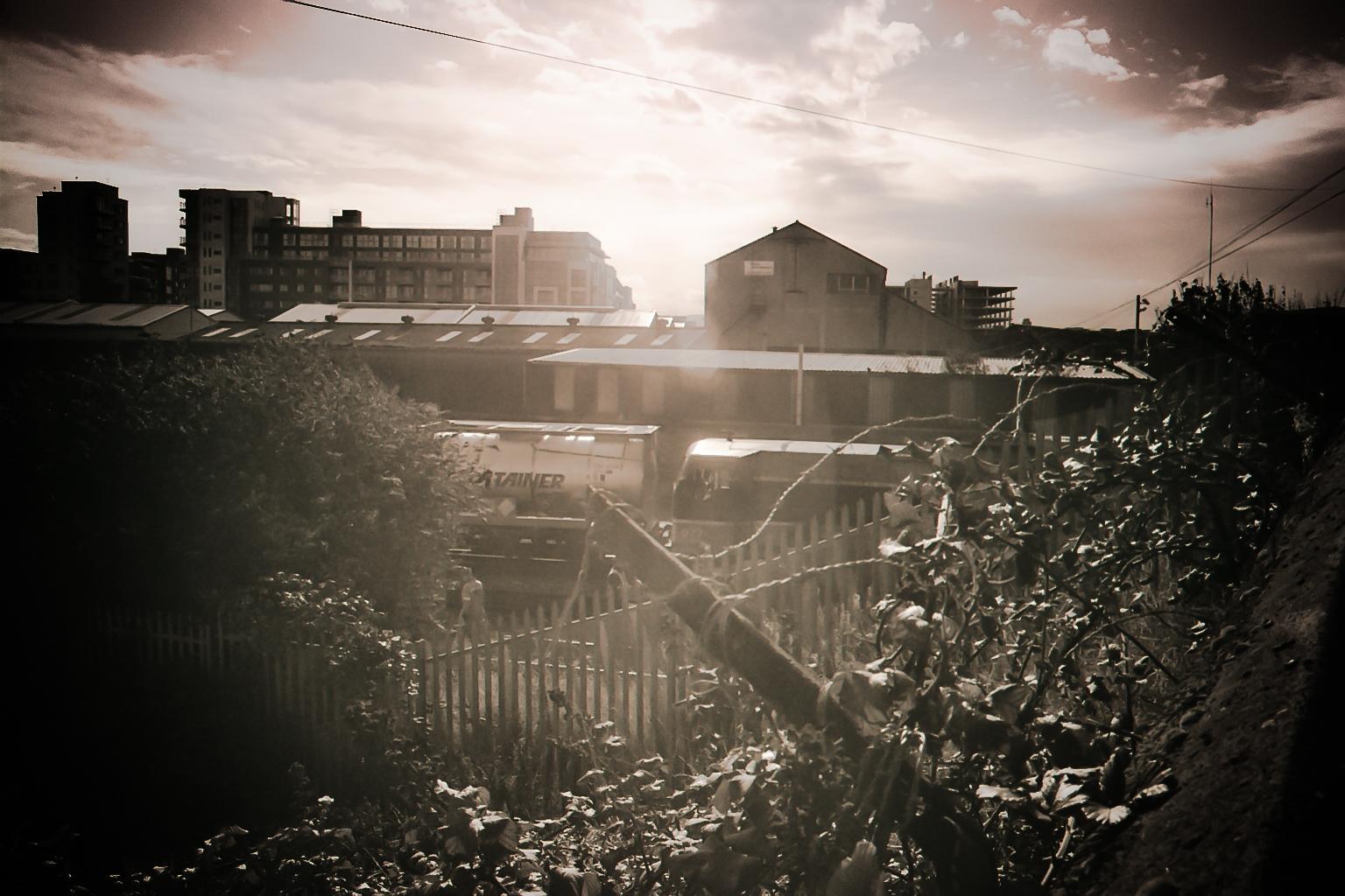 Dublin Bahngelände