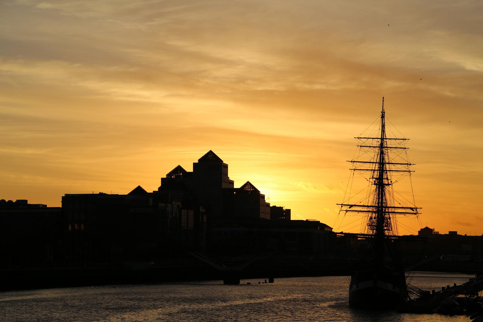 Dublin Sonnenuntergang