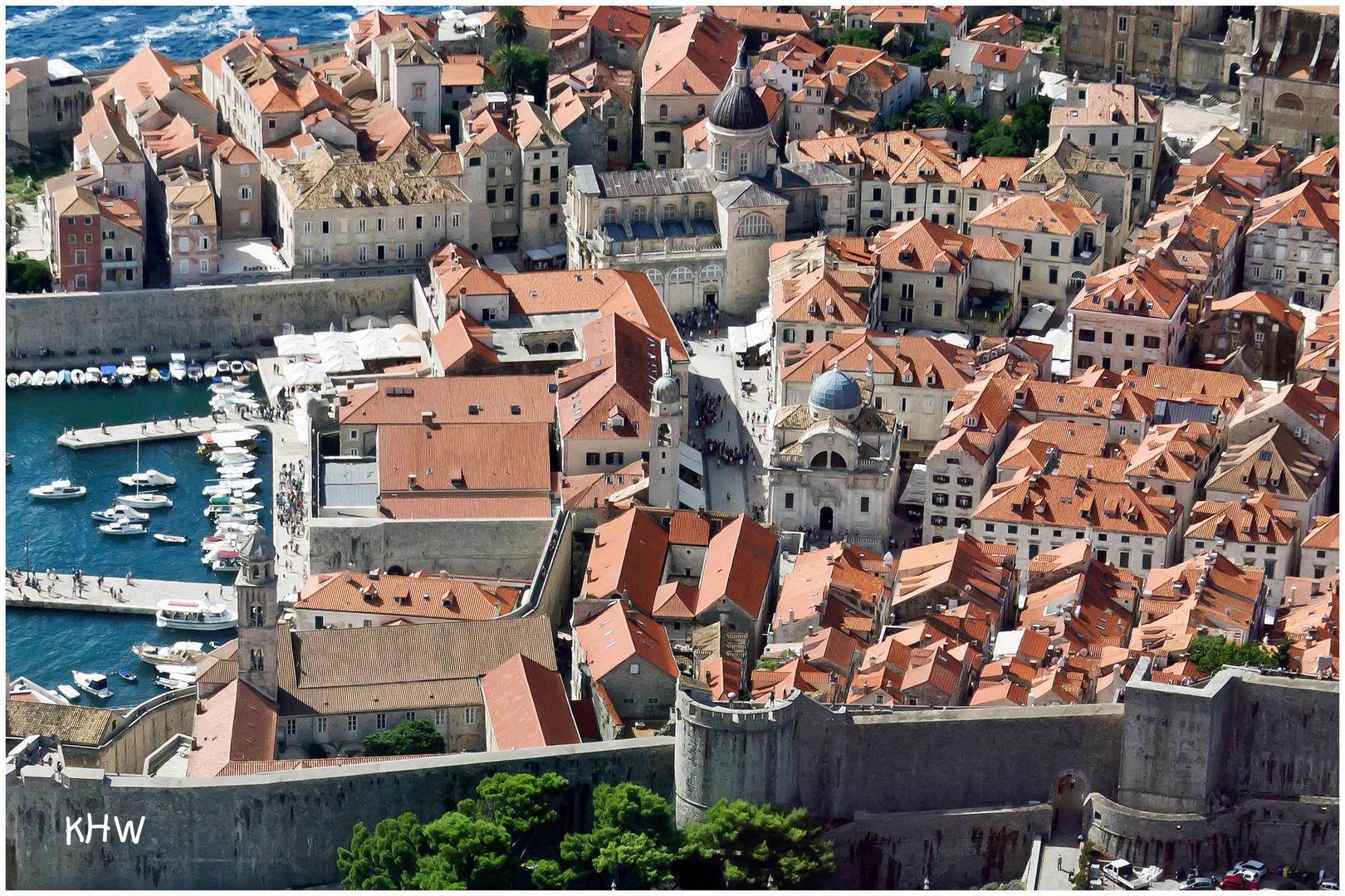Dubrovnik (Detailansicht aus der Altstadt)