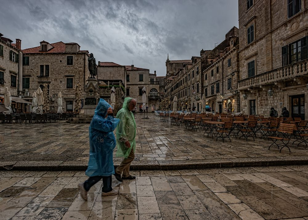 Dubrovnik im Regen