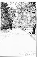 """Dübelsheide im Schnee"","