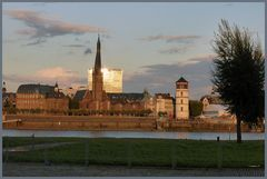 Düsseldorf - Altstadt -  bei Sonnenuntergang