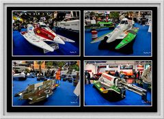 Düsseldorf - Bootsmesse - Motorboote in ungewöhnlichem Design