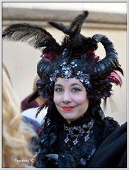 Düsseldorf - Japan-Fest 2014 - eine attraktive Schönheit mit kunstvollem Kopfschmuck