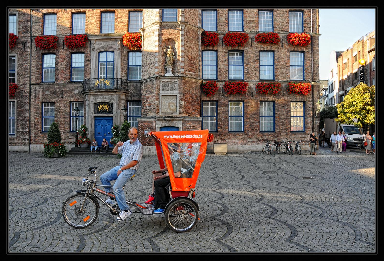 Düsseldorf per Rikscha