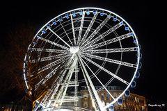 Düsseldorf - Riesenrad am Schloßturm zum Weihnachtsmarkt