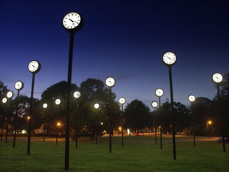 Volksgarten Düsseldorf Uhren