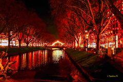 Düsseldorf---Weihnachtbeleuchtung  am Kö-Graben
