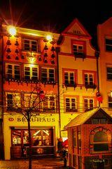 Düsseldorf - Weihnachtsmarkt Altstadt - schöne Hausdekoration