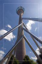 Düsseldorfer Fernsehturm aus einer anderen Perspektive