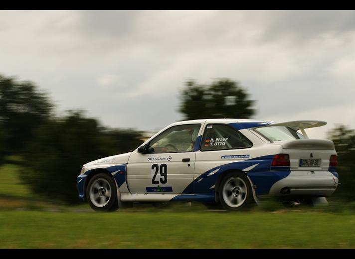 Düstere Wolken bei der Wartburg-Rallye '05 - R.Pfaff, Ford Escort RS Cosworth
