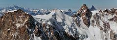 DUFOUR-SPITZE (4.634m) mit Matterhörnli