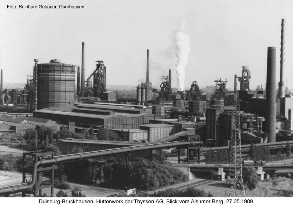 Duisburg-Bruckhausen, Hüttenwerk der Thyssen AG, 1989