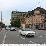 Duisburg-Bruckhausen, Kaiser-Wilhelmstraße, Kreuzung Matenastraße, Eilperhofstraße