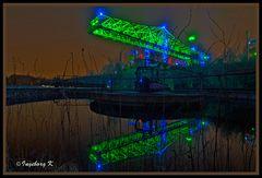 Duisburg - La-Pa-Du bei Nacht