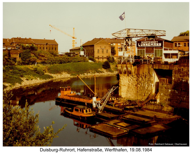 Duisburg-Ruhrort, Werfthafen, 19.08.1984