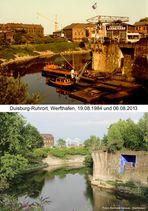 Duisburg-Ruhrort, Werfthafen, 1984 und 2013