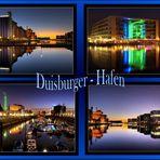 Duisburger - Hafen bei Nacht